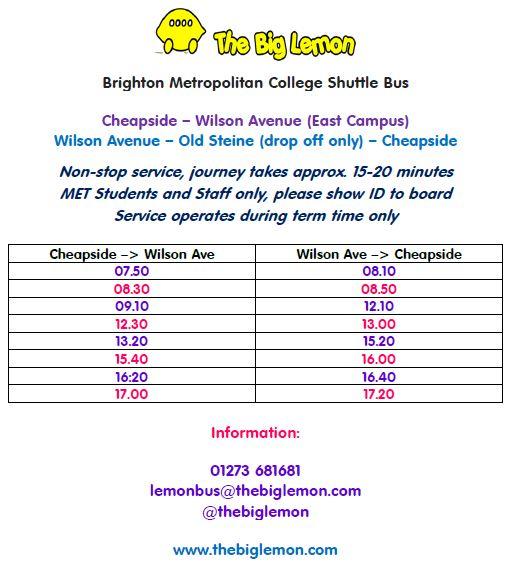 Greater Brighton Metropolitan College Shuttle Bus